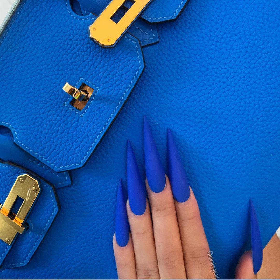 آبی درباری - جدیدترین مدل ناخن | نیل آکادمی